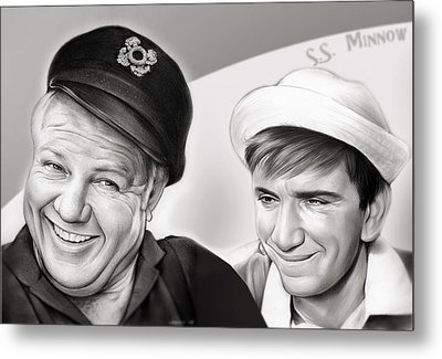 The Skipper And Gilligan Metal Print