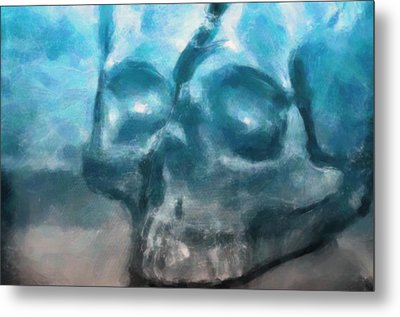 The Skull Metal Print by Tommytechno Sweden
