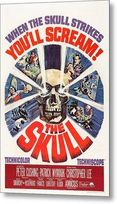 The Skull, Us Poster, Peter Cushing Top Metal Print