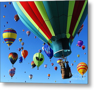 The Sky Is Full Metal Print by Vivian Christopher