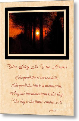 The Sky Is The Limit V 2 Metal Print by Andee Design