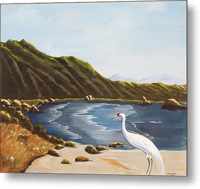Metal Print featuring the painting The Sky The Sea The Shore And More by Susan Culver