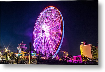 Metal Print featuring the photograph The Skywheel by Rob Sellers