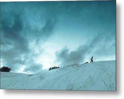 The Sledding Hill Metal Print