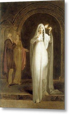The Sleepwalking Scene, Act V, Scene I, From Macbeth, By William Shakespeare 1564-1616 Graphite, Wc Metal Print