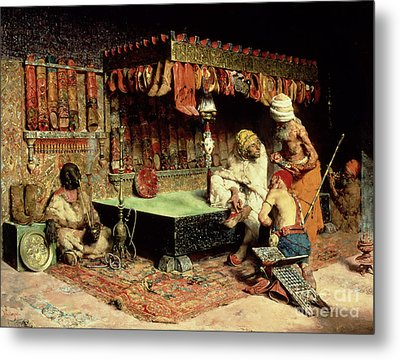 The Slipper Merchant Metal Print by Jose Villegas Cordero