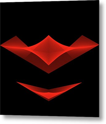 Metal Print featuring the digital art The Smile by Karo Evans