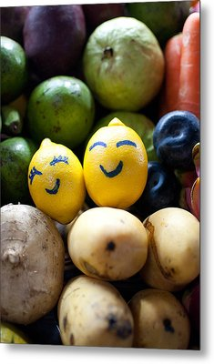 The Smiling Lemons Metal Print by Mohd Shukur Jahar