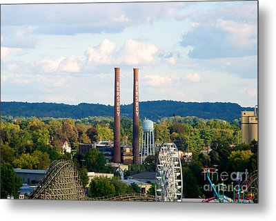 The Smoke Stacks Stand Resolute  Metal Print by Mark Dodd