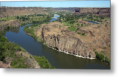 Metal Print featuring the photograph The Snake River Canyon Idaho by Michael Rogers