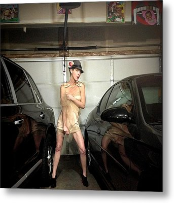 The Sneaky Dress 1 Metal Print