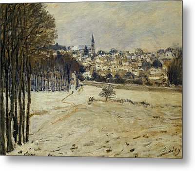 The Snow At Marly-le-roi Metal Print