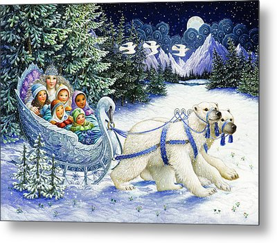 The Snow Queen Metal Print by Lynn Bywaters