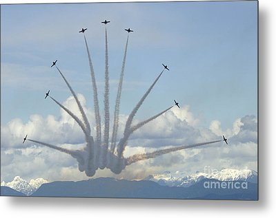 The Snowbirds In High Gear Metal Print by Bob Christopher