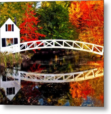 The Somesville Bridge Metal Print
