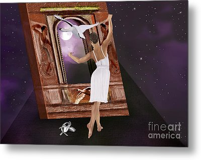 The Song Of The Swan Metal Print by Sydne Archambault