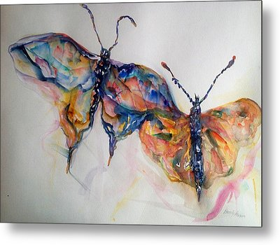 Under My Wing Metal Print by Beverly Bronson