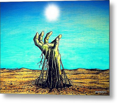 The Soul Is For The Truth Like The Root Is For The Land Metal Print by Paulo Zerbato