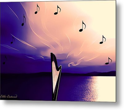 The Sounds Of Sunset Metal Print by Eddie Eastwood