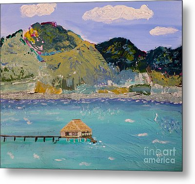 Metal Print featuring the painting The South Seas by Phyllis Kaltenbach