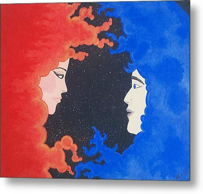 The Space Between Metal Print by Nina Giordano
