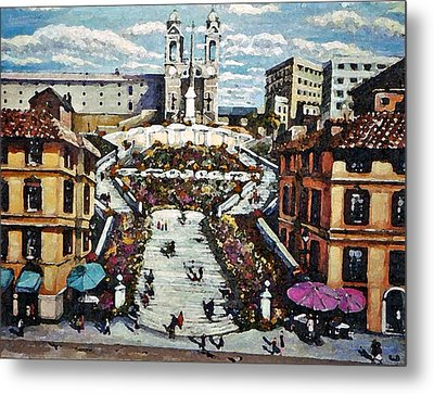 The Spanish Steps Metal Print by Rita Brown