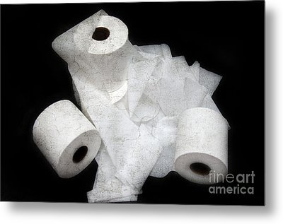 The Spare Rolls 3 - Toilet Paper - Bathroom Design - Restroom - Powder Room Metal Print by Andee Design