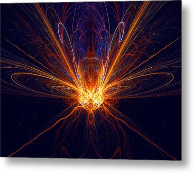 The Spectacular Digital Firefly Metal Print