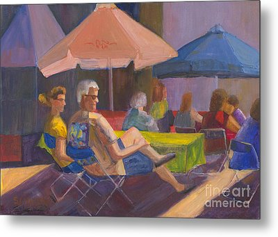 Metal Print featuring the painting The Spectators by Sandy Linden
