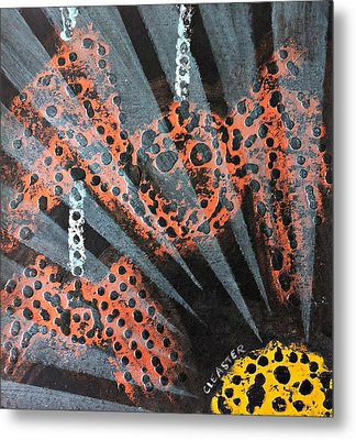 The Spider And The Sun Son Metal Print by Cleaster Cotton