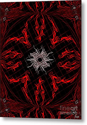 Metal Print featuring the painting The Spider's Web  by Roz Abellera Art