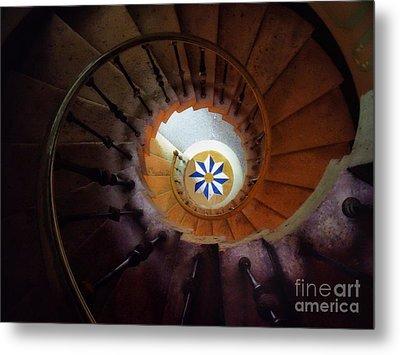 The Spiral Staircase Of Villa Vizcaya Metal Print by Mike Nellums