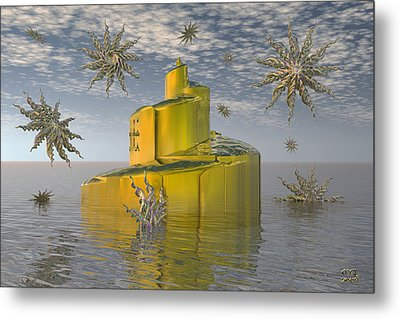 Metal Print featuring the digital art The Spiral Tower II by Manny Lorenzo