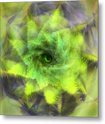 Metal Print featuring the digital art The Spirit Of The Jungle by Martina  Rathgens