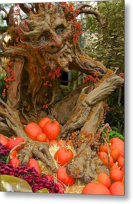 The Spirit Of The Pumpkin Metal Print by Venetia Featherstone-Witty