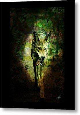 The Spirit Of The Wolf Metal Print by Absinthe Art By Michelle LeAnn Scott