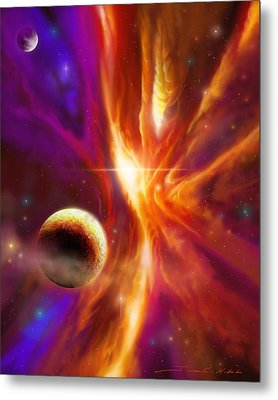 The Spirit Realm Of The Saphire Nebula Metal Print by James Christopher Hill