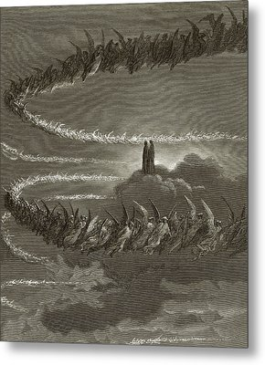 The Spirits In Jupiter Metal Print by Gustave Dore