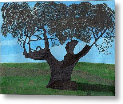 The Split Tree - Bradgate Park Metal Print by Bav Patel
