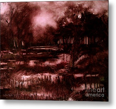 The Spring Eel Flooding Or Red And Green Don't Make Brown Metal Print by Charlie Spear