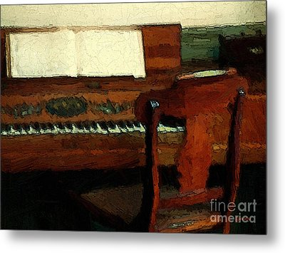 The Square Piano Metal Print by RC DeWinter