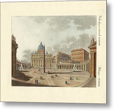 The St. Peter's Cathedral In Rome Metal Print by Splendid Art Prints