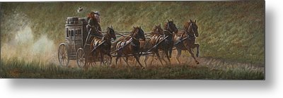 The Stage Coach Metal Print by Gregory Perillo