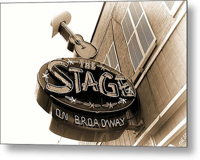The Stage On Broadway Nashville Tennessee Metal Print