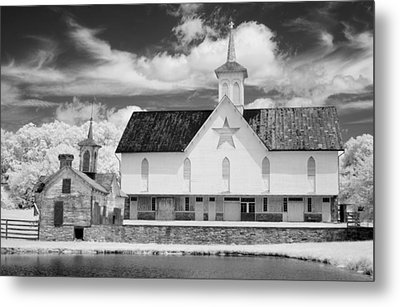 The Star Barn - Infrared Metal Print