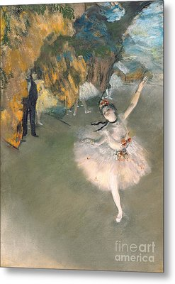 The Star Or Dancer On The Stage Metal Print by Edgar Degas