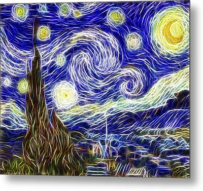 The Starry Night Reimagined Metal Print