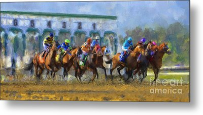 The Starting Gate Metal Print by Andrea Auletta