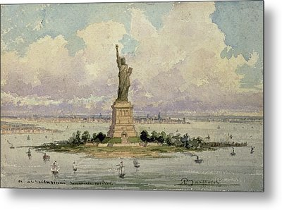The Statue Of Liberty  Metal Print by Frederic Auguste Bartholdi