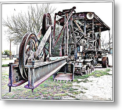 The Steam Shovel Metal Print by Glenn McCarthy Art and Photography